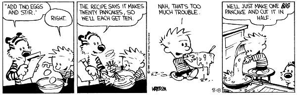 Calvin and Hobbes Pancakes