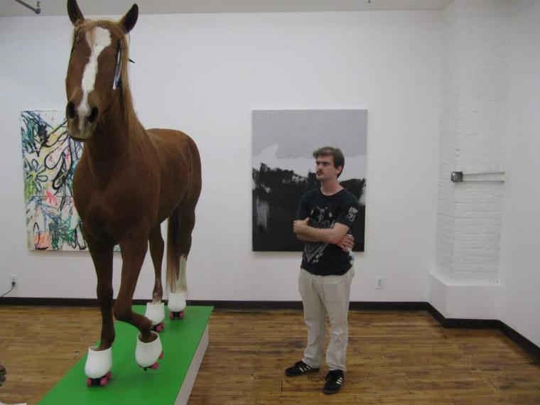 Photo by Rafael Fuchs. Giant Dead Horse by Tinkebell @ The Active Space